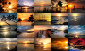 399 Pixels Wide Ocean Sunsets In Le