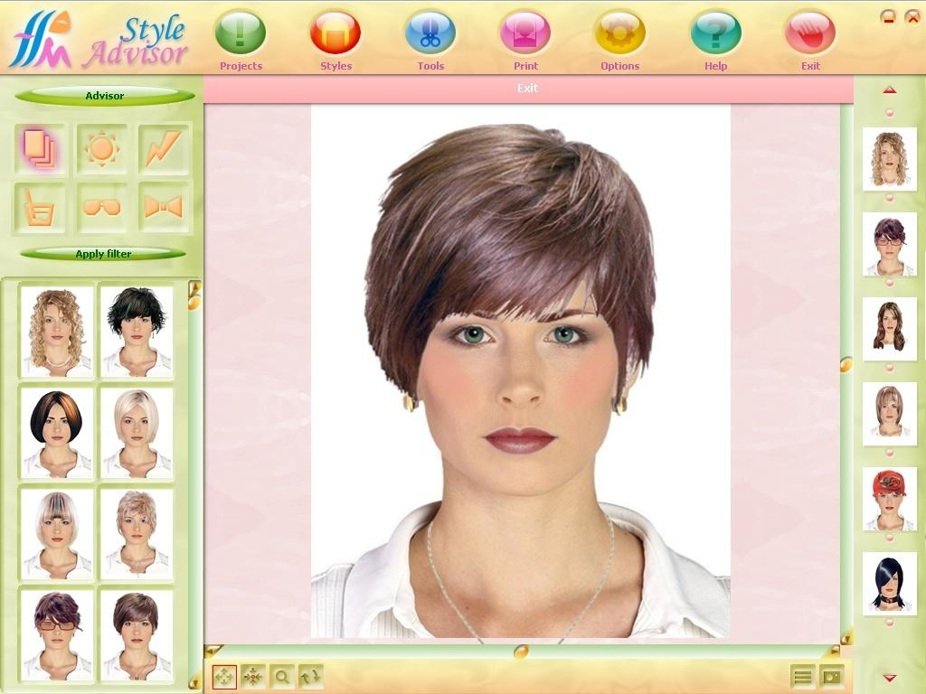 Подобрать через цвет волос